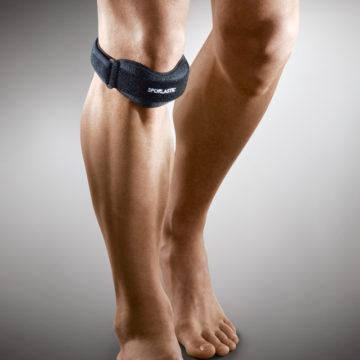 Бандаж для фиксации коленного сустава человека с болезнью Шляттера