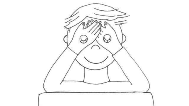 Техника выполнения накрывания глаз ладонями (пальминга)