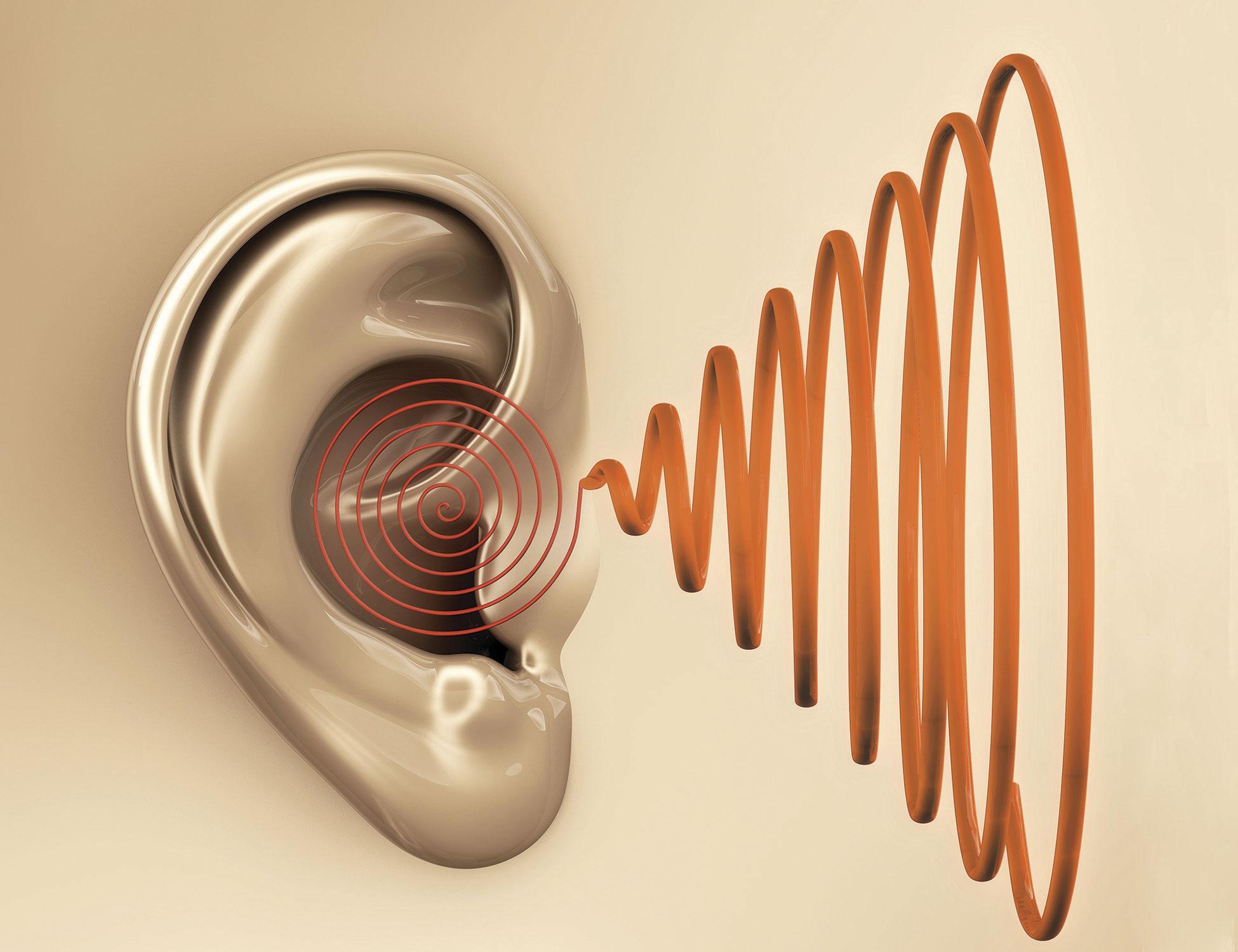 Длительное постоянное воздействие негромкого звука на ухо