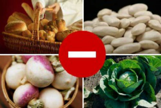 От орехов, капусты, бобов и фастфуда следует полностью отказаться