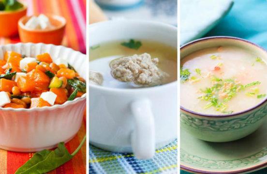 Следует включать в меню супы, каши и овощные салаты