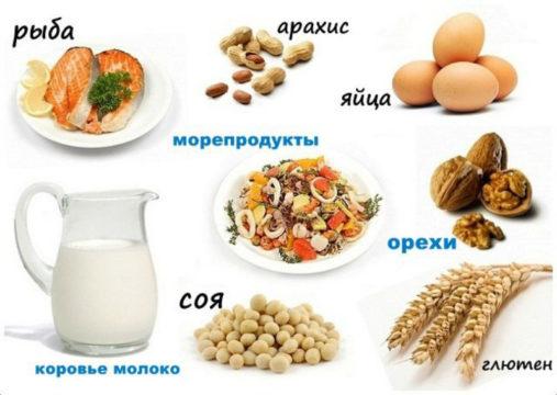 Самыми сильными аллергенами считаются яйца, орехи, молоко и морепродукты